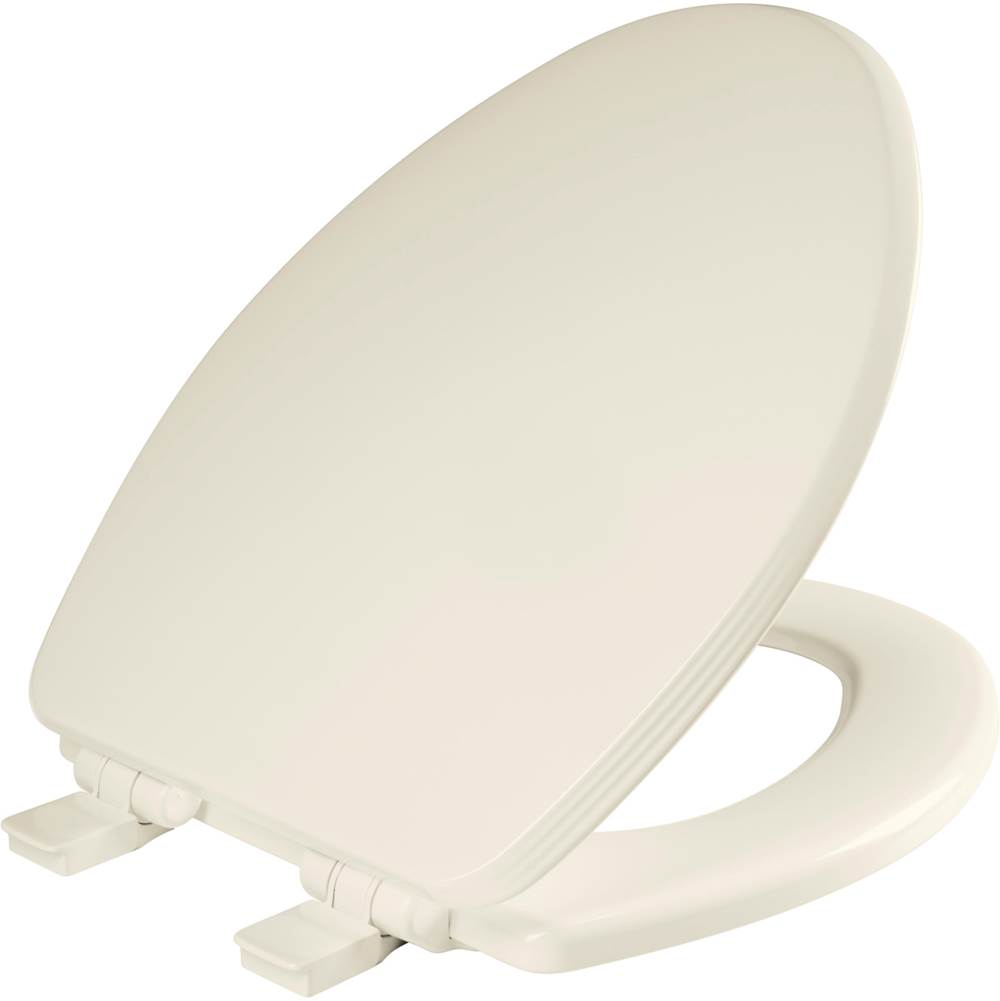 Bemis Ashland Elongated Enameled Wood Toilet Seat in Biscuit with STA-TITE Seat Fastening System, Easy-Clean and Whisper-Close