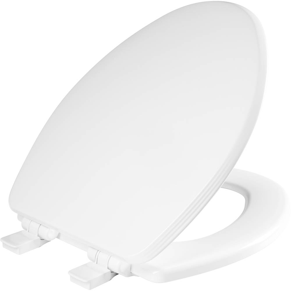 Bemis Ashland Elongated Enameled Wood Toilet Seat in Cotton White with STA-TITE Seat Fastening System, Easy-Clean and Whisper-Close