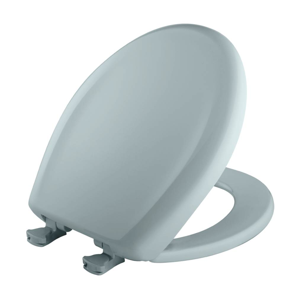 Bemis Round Plastic Toilet Seat in Blue Mist with STA-TITE Seat Fastening System, Easy-Clean & Change and Whisper-Close Hinge
