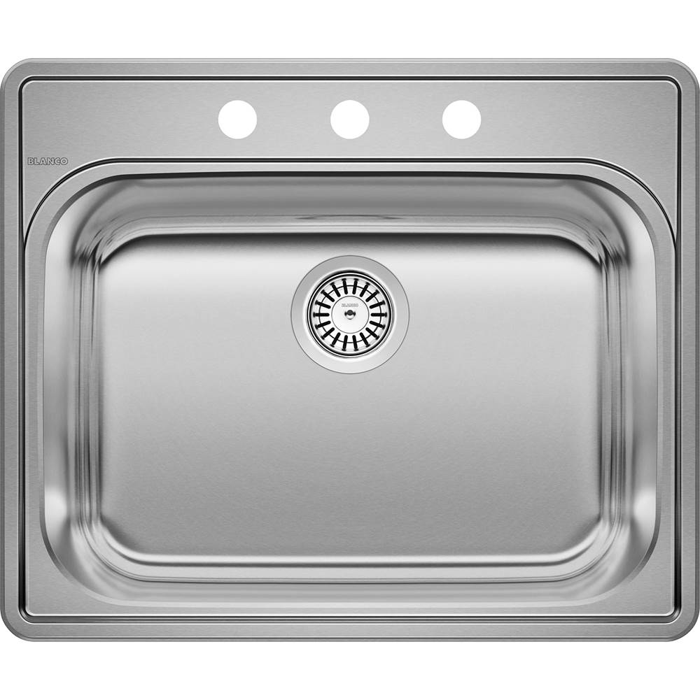 Blanco ESSENTIAL Stainless Steel Single Bowl (3-Hole) Laundry Sink