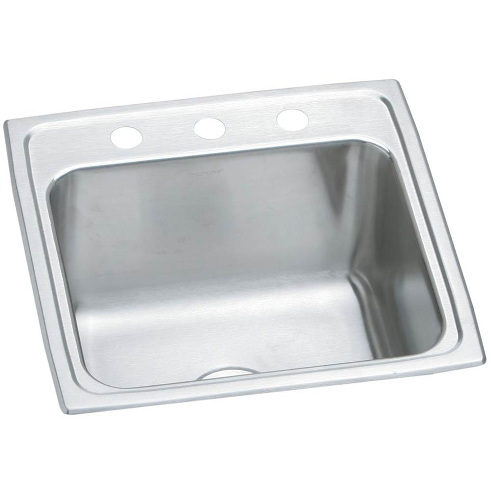 Elkay Elkay Lustertone Classic Stainless Steel 19-1/2'' x 19'' x 10-1/8'', Single Bowl Drop-in Laundry Sink