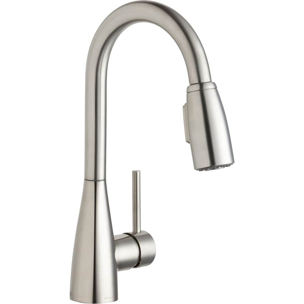 Elkay Elkay Avado Single Hole Bar Faucet with Pull-down Spray and Forward Only Lever Handle Lustrous Steel