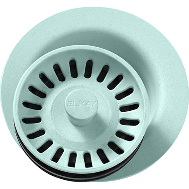 Elkay Elkay Polymer 3-1/2'' Disposer Flange with Removable Basket Strainer and Rubber Stopper Mint Creme