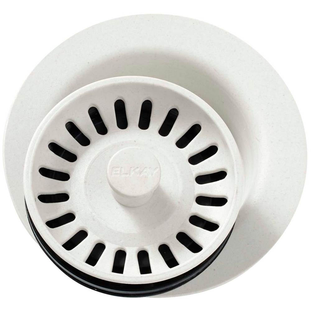 Elkay LKQS35GS Greystone Polymer Drain Fitting with Removable Basket Strainer and Rubber Stopper