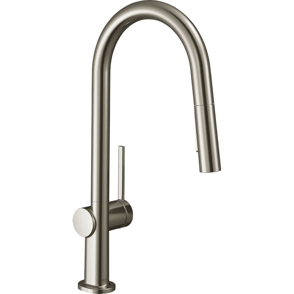 Hansgrohe Talis N Higharc Kitchen Faucet, A-Style 2-Spray Pull-Down With Sbox, 1.75 Gpm In Steel Optic