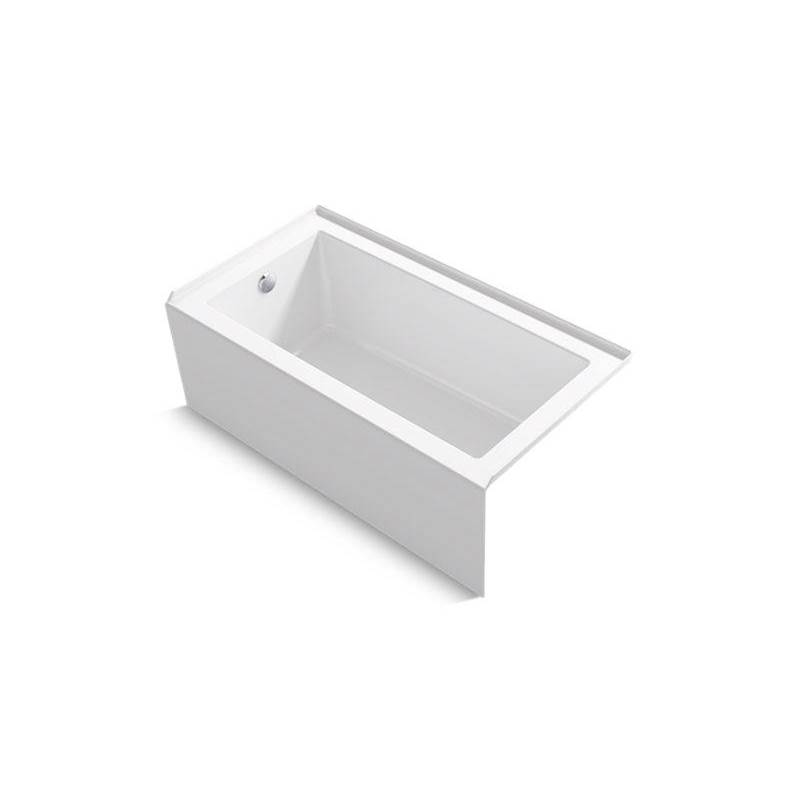 Kohler Underscore® Rectangle 60'' x 32'' alcove bath with integral apron, integral flange, and left drain
