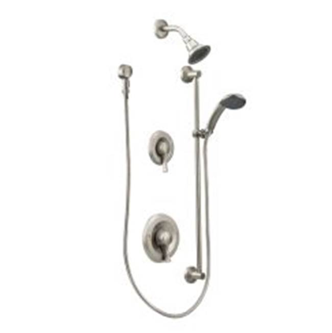 Moen Commercial Classic brushed nickel Posi-Temp(R) transfer all-metal trim kits