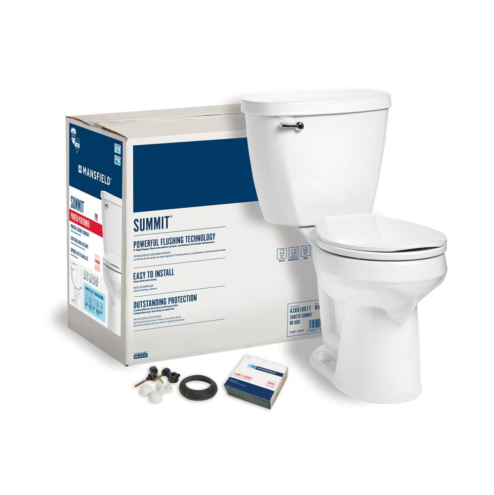 Mansfield Plumbing Summit 1.6 Round SmartHeight Complete Toilet Kit