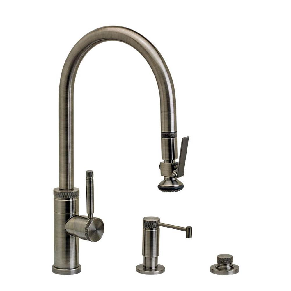 Waterstone Industrial Plp Pulldown Faucet - Lever Sprayer - 3Pc. Suite